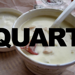 quart of clam chowder